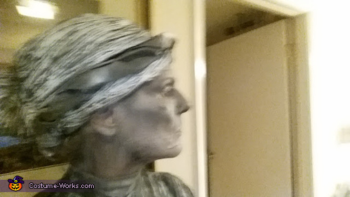 close up of wig, Scary Angel Statues Costume