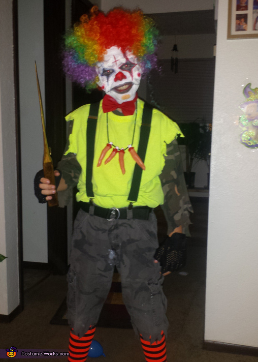 scary clown costume diy