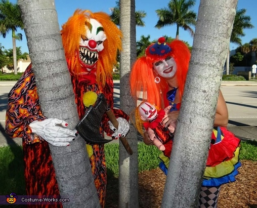 Scary Clown & Nice Clown Couple Homemade Costume