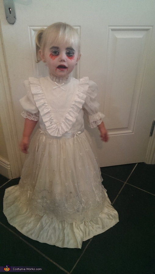 Scary Demon Child Homemade Costume