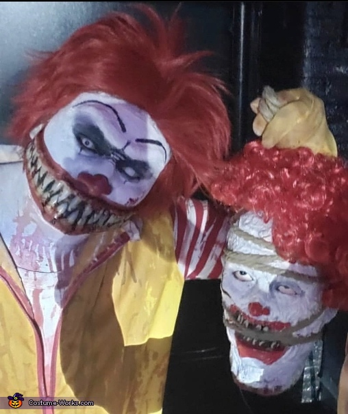 Scary Fastfood Homemade Costume