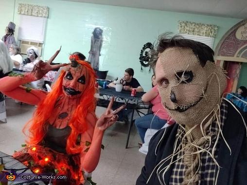 Scary Rotting Pumpkin Homemade Costume