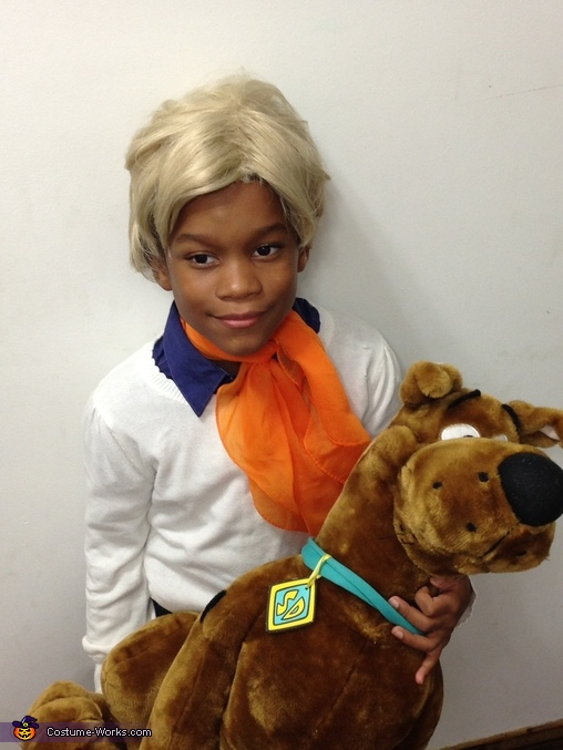 My son as Fred, Scooby Doo and the Gang Costumes