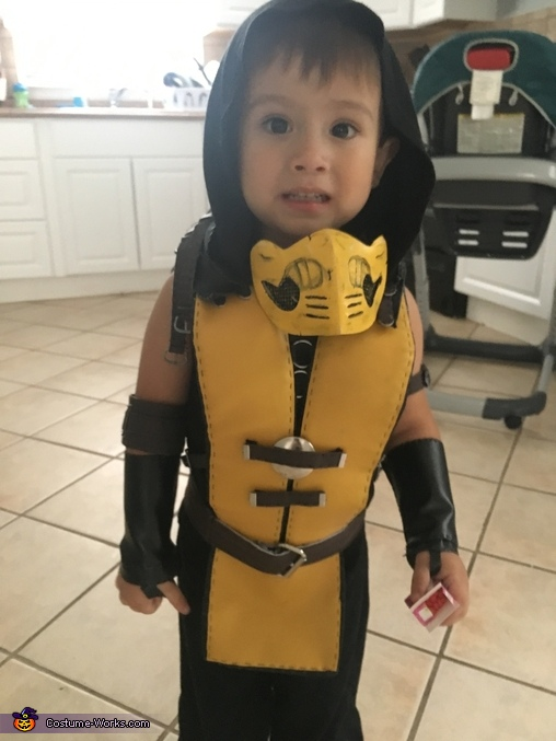 Scorpion From Mortal Kombat Child Costume Creative Diy Costumes