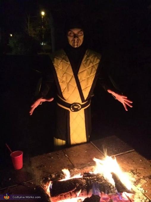 Scorpion Mortal Kombat Homemade Costume