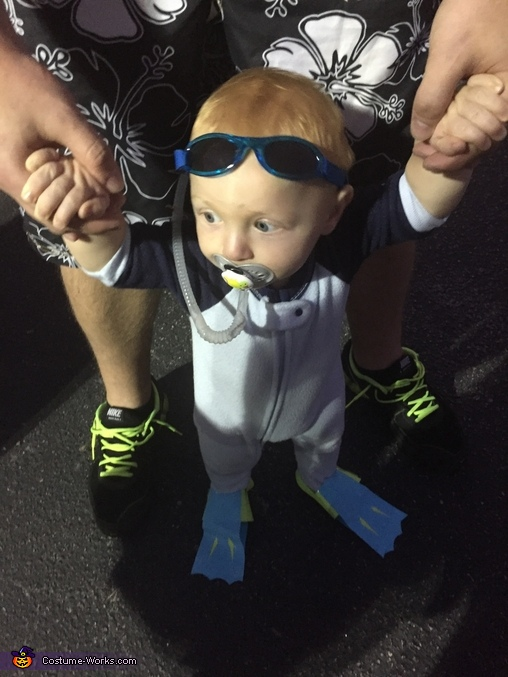Ready to dive in, Scuba Baby Costume