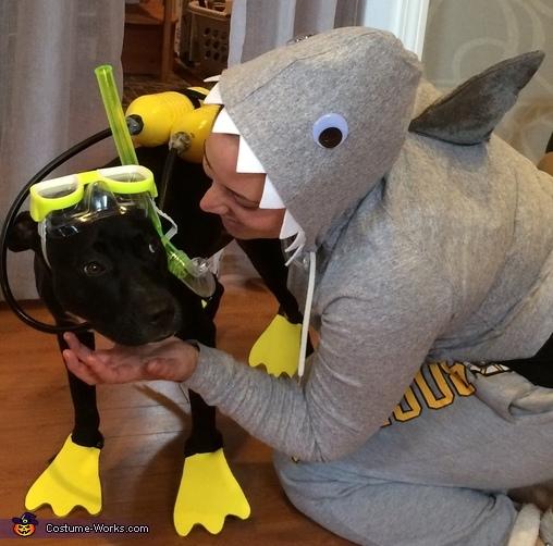 Shark attack!!, Scuba Dog Costume