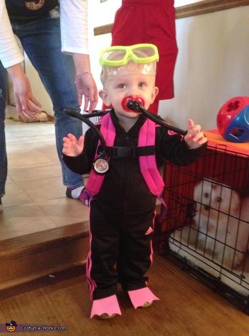 Scuba Girl Baby Costume