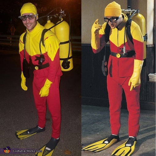 "Photo matching up with a still from ""Big Daddy"", Scuba Steve Costume"