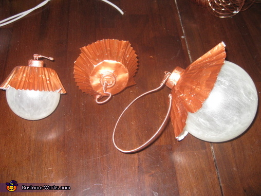 completed wing tip globes & lantern, Sea Beacon Costume