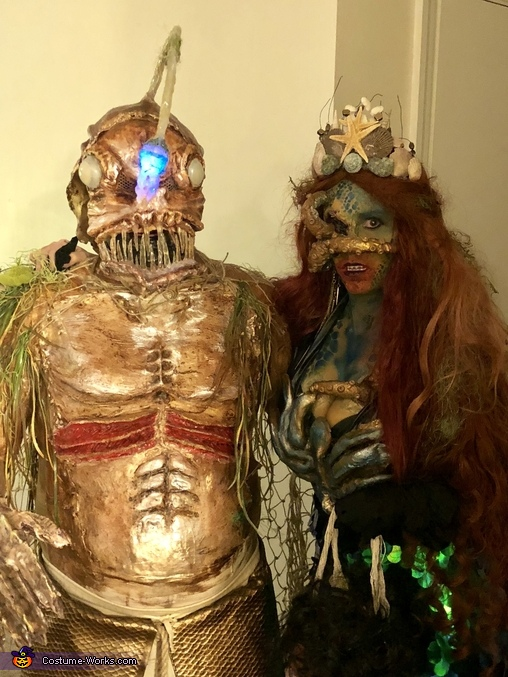 Sea Monster Couple Homemade Costume