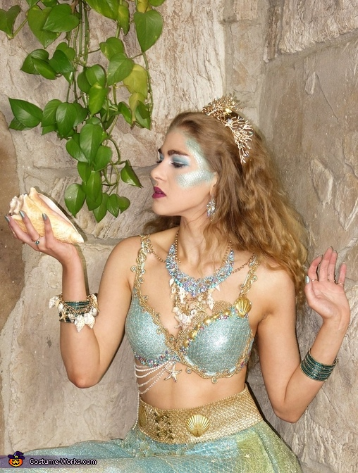 Sea Siren, Water Nymph, Mermaid, Sea Goddess, Sea Witch, or Water Sprite, Sea Siren - Water Nymph Costume