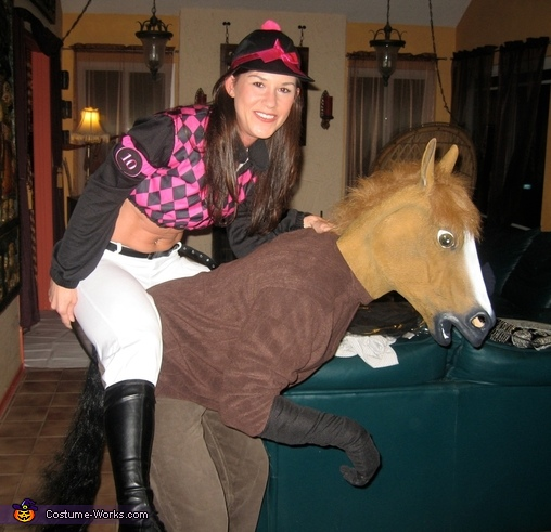 Seabiscuit Horse and Jockey Costume  sc 1 st  Costume Works & Seabiscuit Horse and Jockey - Couple DIY Halloween Costume
