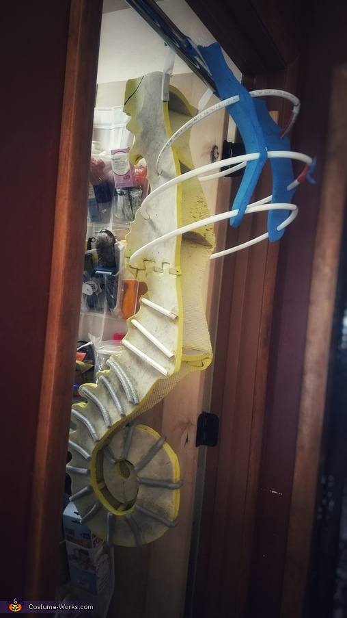 Support frame, Seahorse Costume