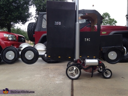 Semi Truck built over a Wheelchair Costume