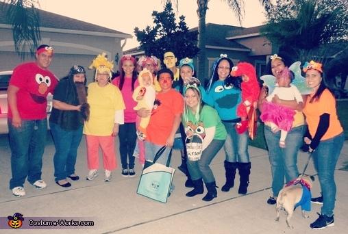 Sesame Street Family Costumes