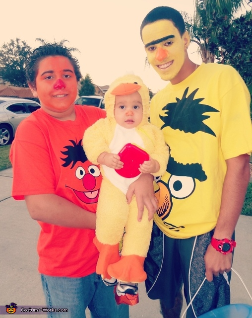 Bert, Ernie, and their Rubber Ducky!, Sesame Street Family Costumes