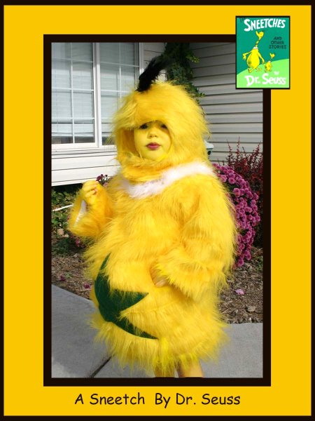 2 year old Lilyan - A Sneetch, Dr. Seuss Book Characters Costume