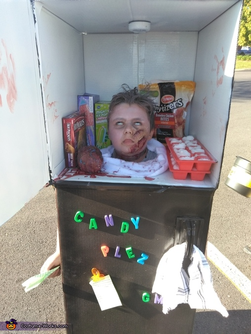 Severed Head in a Freezer Costume