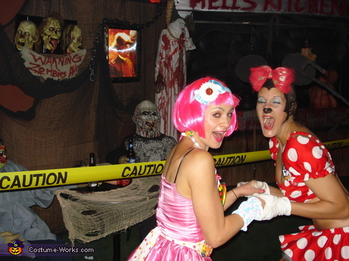 Candy Girl and Minnie Mouse got scared, Sexy Minnie Mouse Costume