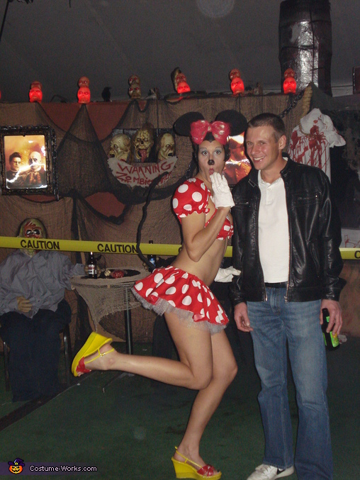 with my husband, Sexy Minnie Mouse Costume
