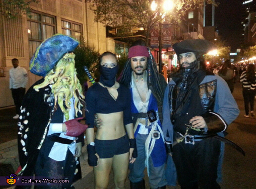 ninja vs pirates , Sexy Ninja Assassin Costume