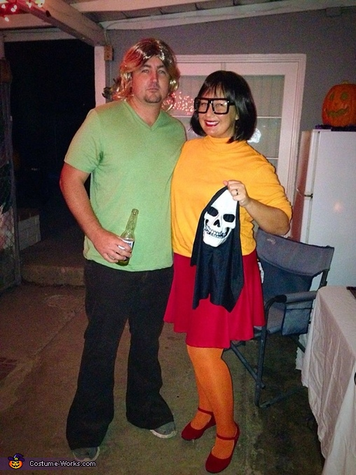 Shaggy and Velma Couples Costume
