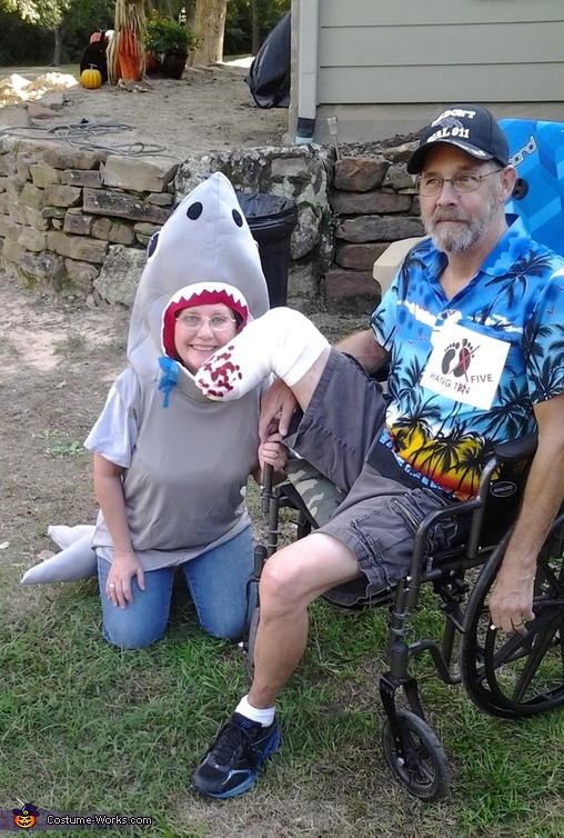 Shark and Victim Couples Costume