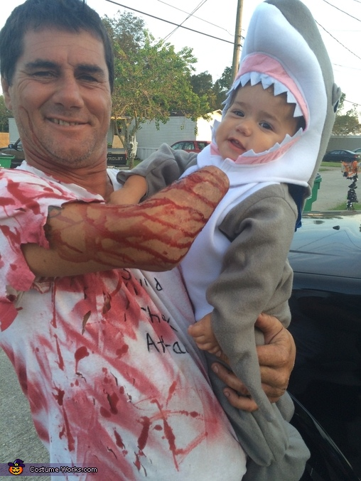 Shark Attack Homemade Costume