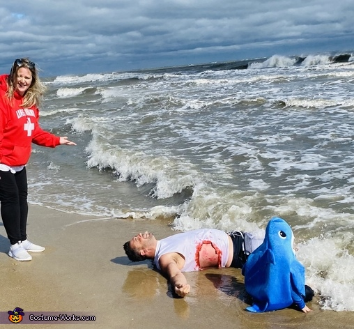 Shark attack family Halloween, Shark Attack Costume