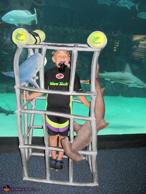 Shark Diver Homemade Costume