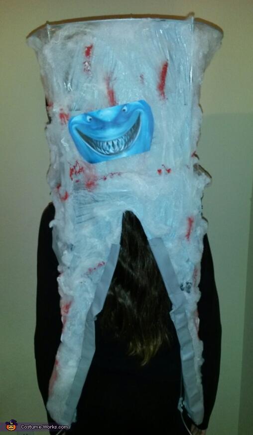 Back of Costume , Sharknado Costume