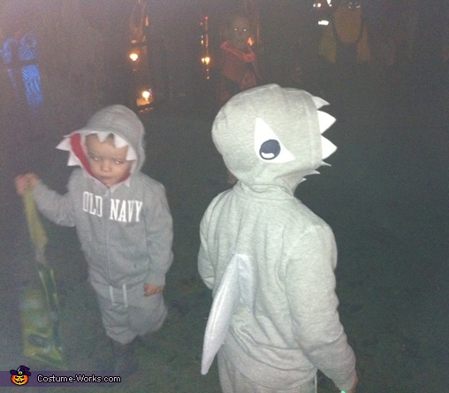Sharks Attack Homemade Costume