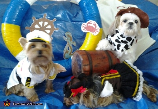 Told her not to drink from the jug!, Ship Bow Wow Costume