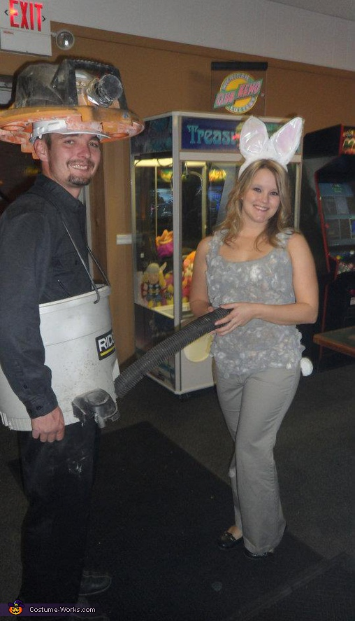 Shop Vac and Dust Bunny Costume