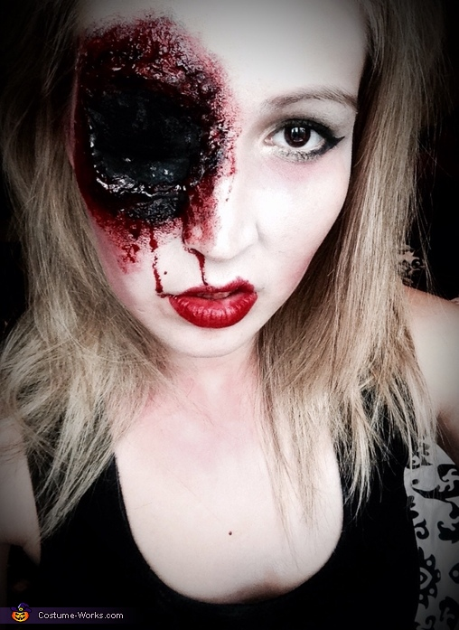 Shot-To-The-Face Homemade Costume