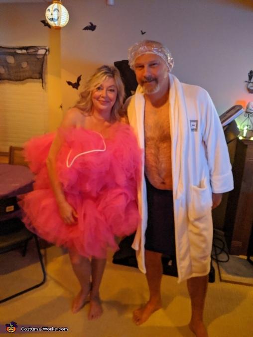 Shower Scrubbie and Man needing a Shower Costume