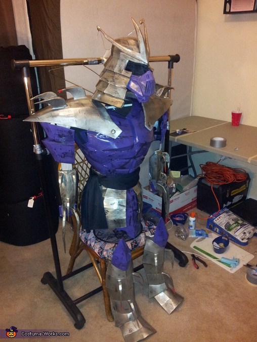 complete costume side view, TMNT Shredder Costume