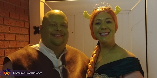 Shrek and Fiona Homemade Costume