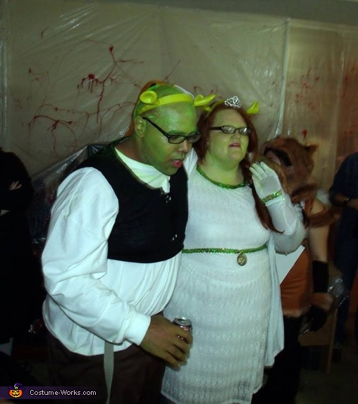 Shrek and Fiona Homemade Costumes