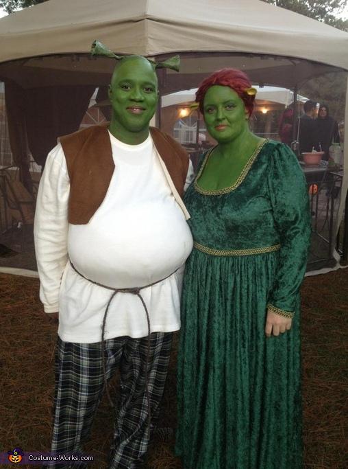 Shrek u0026 Fiona Costume  sc 1 st  Costume Works & Homemade Shrek u0026 Fiona Costume for Couples