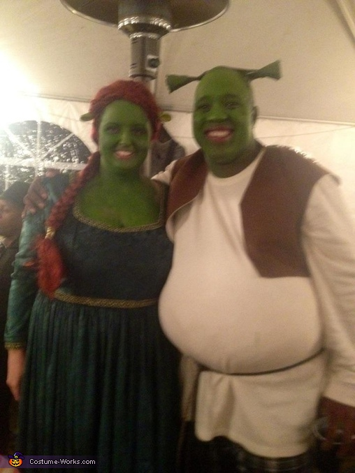 Homemade Shrek & Fiona Costume for Couples