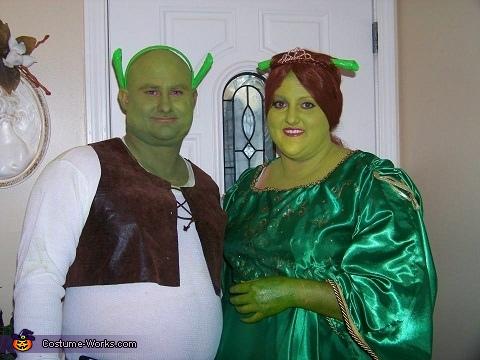 Shrek & Fiona Couple Costume