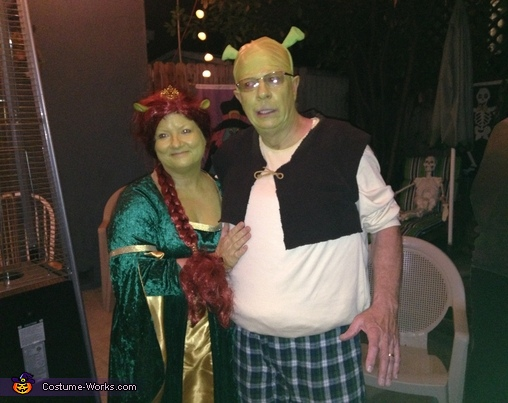 Shrek & Fiona Couple Costumes