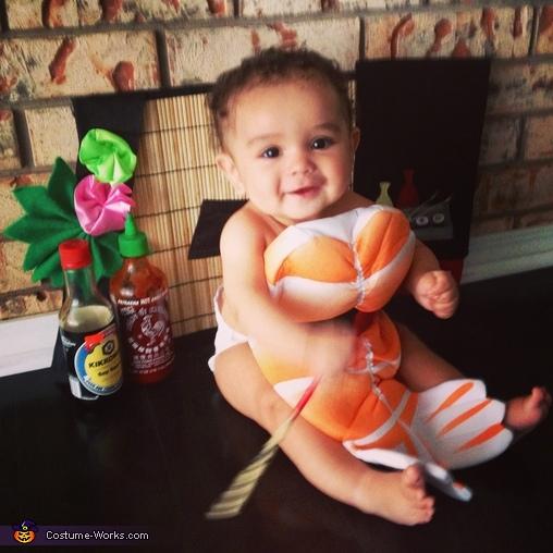 Om nomnom, Shrimp Sashimi Baby Costume