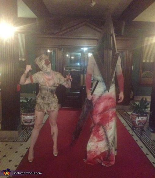 Silent Hill Nurse and Pyramid Head Costume