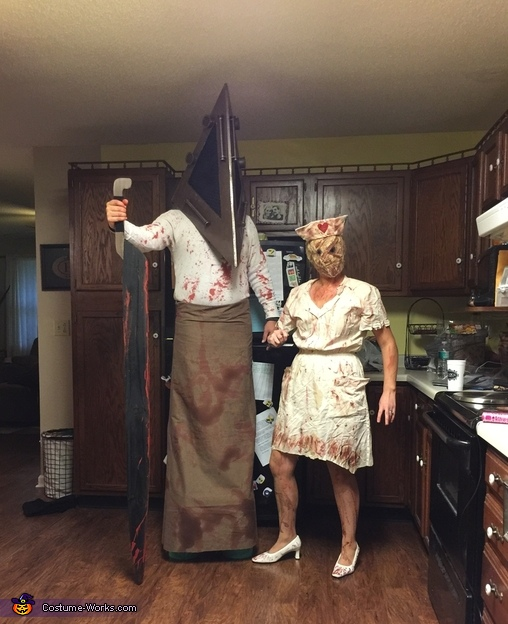 Silent Hill Pyramid Head and the Faceless Nurse Costume