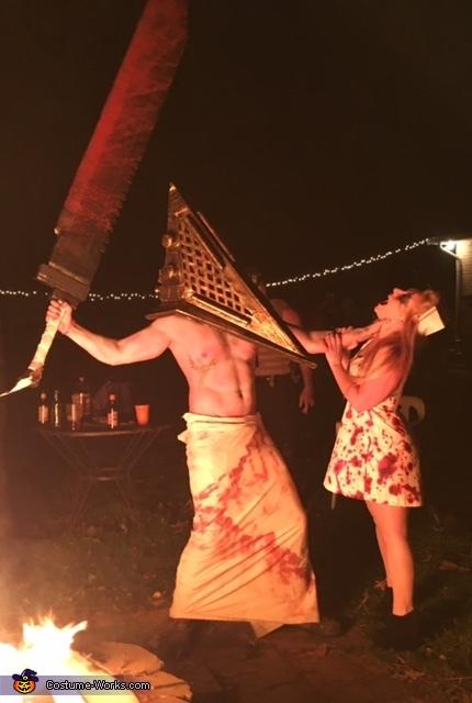 Silent Hill Pyramid Head and Nurse Costume