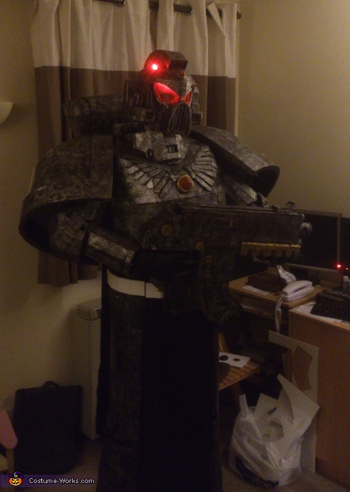 Full Shot, Silver Skull Space Marine Costume