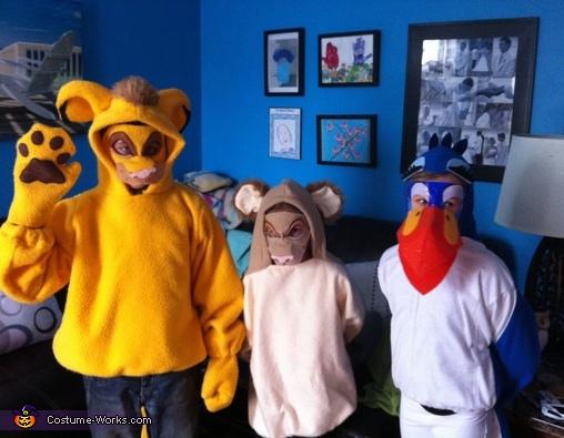 Zazu, Simba, and Nala Costume
